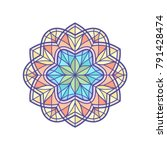 stained glass template  round... | Shutterstock .eps vector #791428474