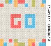children toy building block... | Shutterstock .eps vector #791429428