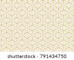 pattern vector line graphic... | Shutterstock .eps vector #791434750
