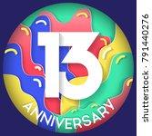 13 years anniversary logo... | Shutterstock .eps vector #791440276
