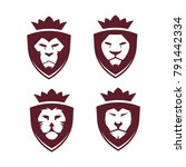 super mega collection lion face ... | Shutterstock .eps vector #791442334