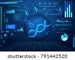 abstract technology ui... | Shutterstock .eps vector #791442520