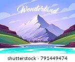 unbelievable mountain landscape....   Shutterstock .eps vector #791449474