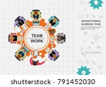 business concepts for analysis... | Shutterstock .eps vector #791452030