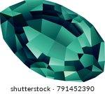 vector beautiful faceted... | Shutterstock .eps vector #791452390