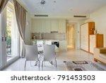 interior of a cozy living room... | Shutterstock . vector #791453503