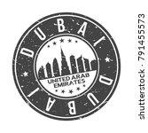 dubai united arab emirates... | Shutterstock .eps vector #791455573