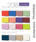 Spring 2018 Color Palette London