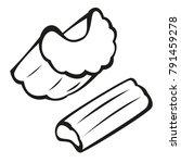 vector vegetables black and... | Shutterstock .eps vector #791459278