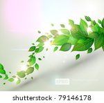fresh green leaves and sun... | Shutterstock .eps vector #79146178