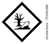 dangerous icon of enviromental... | Shutterstock .eps vector #791462380