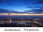 cloudy dawn over the french...   Shutterstock . vector #791463154