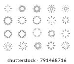 collection of different black... | Shutterstock .eps vector #791468716