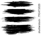 grunge ink brush strokes....   Shutterstock .eps vector #791471020