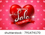 valentines day sale background... | Shutterstock .eps vector #791474170