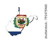 state of west virginia flag... | Shutterstock .eps vector #791475460