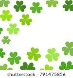 shamrock leaves border... | Shutterstock .eps vector #791475856