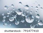 abstract atom or molecule... | Shutterstock . vector #791477410