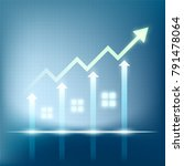 sales of real estate. growth of ... | Shutterstock .eps vector #791478064