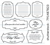 set of calligraphic frames... | Shutterstock .eps vector #791487823
