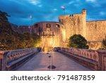pile gate    the main entrance... | Shutterstock . vector #791487859