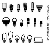 light bulb lamp variation... | Shutterstock .eps vector #791490103