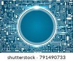 computer circuit board.   Shutterstock .eps vector #791490733