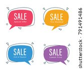 sale speech bubble | Shutterstock .eps vector #791491486