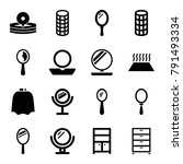 mirror icons. set of 16... | Shutterstock .eps vector #791493334