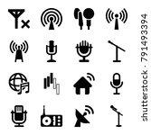 radio icons. set of 16 editable ... | Shutterstock .eps vector #791493394