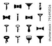 neck icons. set of 16 editable... | Shutterstock .eps vector #791493526