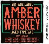 original label typeface named ... | Shutterstock .eps vector #791494864