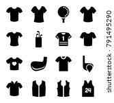 tee icons. set of 16 editable... | Shutterstock .eps vector #791495290