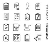 form icons. set of 16 editable... | Shutterstock .eps vector #791496118