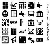 square icons. set of 25... | Shutterstock .eps vector #791496190