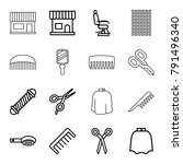 hairdresser icons. set of 16... | Shutterstock .eps vector #791496340