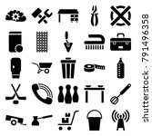 equipment icons. set of 25... | Shutterstock .eps vector #791496358