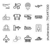 passenger icons. set of 16...   Shutterstock .eps vector #791497330