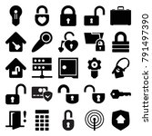 lock icons. set of 25 editable... | Shutterstock .eps vector #791497390