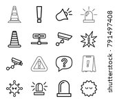 attention icons. set of 16... | Shutterstock .eps vector #791497408