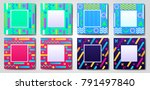 abstract geometric squared... | Shutterstock .eps vector #791497840