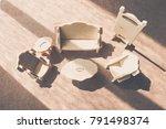 the living room  wooden toy in...   Shutterstock . vector #791498374