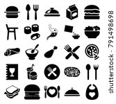 lunch icons. set of 25 editable ... | Shutterstock .eps vector #791498698