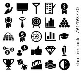 success icons. set of 25... | Shutterstock .eps vector #791498770