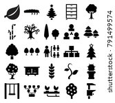tree icons. set of 25 editable... | Shutterstock .eps vector #791499574