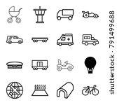transport icons. set of 16...   Shutterstock .eps vector #791499688