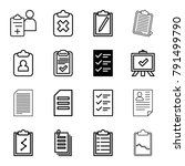 clipboard icons. set of 16... | Shutterstock .eps vector #791499790
