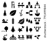 tree icons. set of 25 editable... | Shutterstock .eps vector #791499844