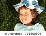 the girl is walking in the... | Shutterstock . vector #791500906