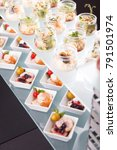 buffet catering  on the table. | Shutterstock . vector #791501974